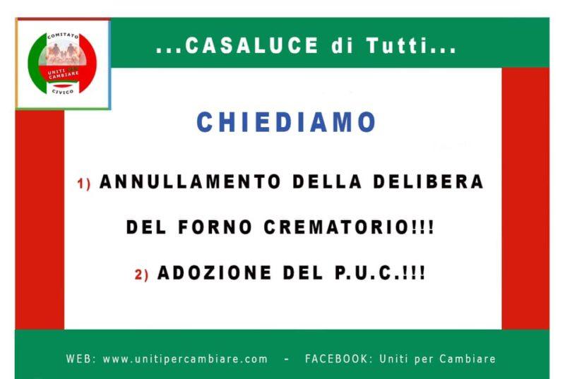 UPC scaled CASALUCE, UPC SI RIVOLGE AL PREFETTO: GESTIONE ANTIDEMOCRATICA
