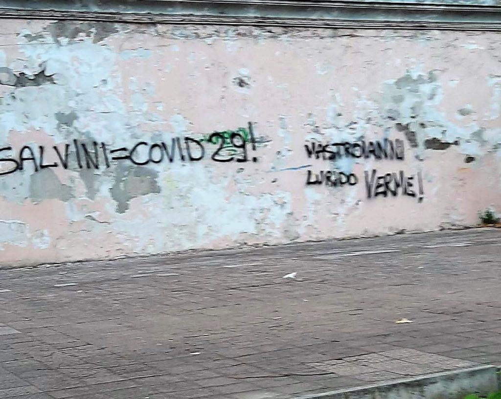 """%name SCRITTE INGIURIOSE CONTRO LA LEGA, SALVINI E MASTROIANNI: """"BASTA SEMINATORI DODIO, IL PARTITO TIRA DRITTO"""""""