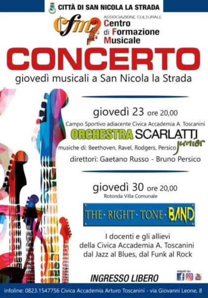 """locandina Accademia scaled Civica Accademia Musicale """"Arturo Toscanini"""": giovedì musicali a San Nicola la Strada"""
