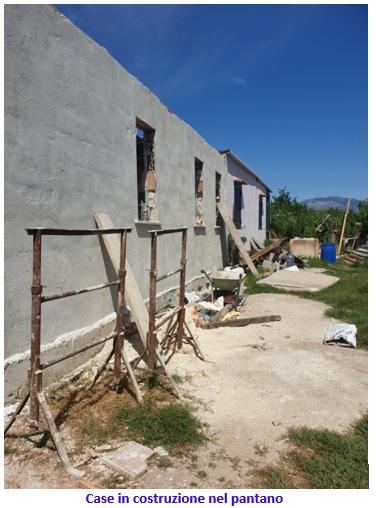 pantano case in costruzione NUOVI ABBATTIMENTI NELLA BARACCOPOLI DI BAIA DOMIZIA