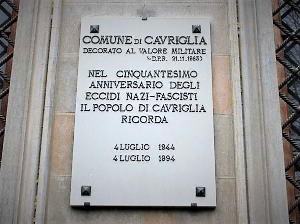 pietra della memoria della strage di.cavriglia II GUERRA MONDIALE: IL CNDDU RICORDA LA STRAGE DI CAVRIGLIA