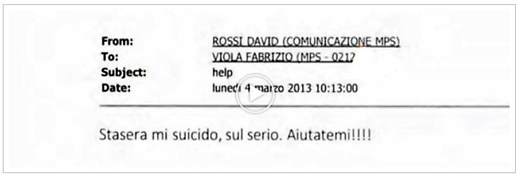 rossi MORTE DI DAVID ROSSI: UN SUICIDIO