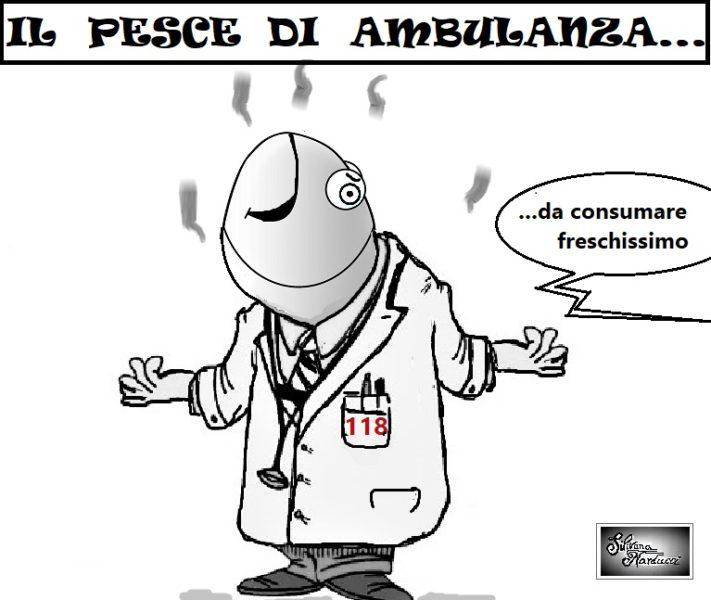 IL PESCE DI AMBULANZA... SERVIZIO 118, EMERGENZA COVID…ATTENZIONE…IL PESCE PUZZA DALLA TESTA…