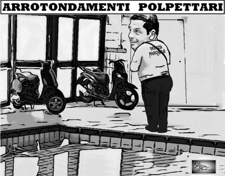 %name STADIO DEL NUOTO, POLPET ED I MOTORINI PARCHEGGIATI...A BORDO VASCA