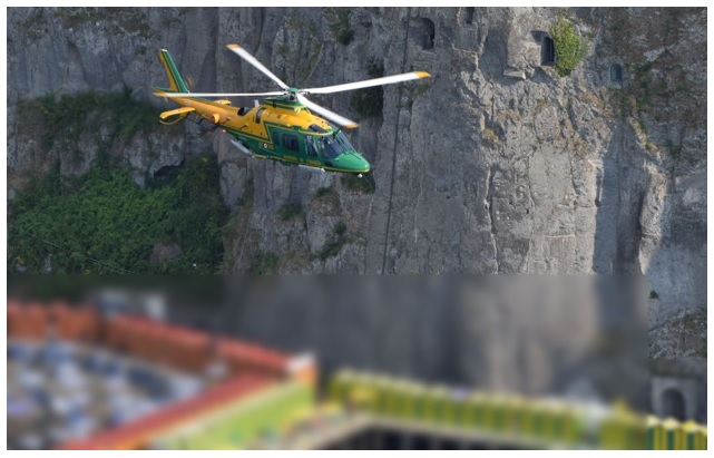 elicottero forestale 'ACTION DAY' INTERFORZE NELLA 'TERRA DEI FUOCHI'