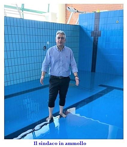 sasso in piscina SESSA AURUNCA: TRA UN PEDILUVIO E UNORDINANZA PRO COVID, TUTTO IL DISORDINE DEL SINDACO SASSO!