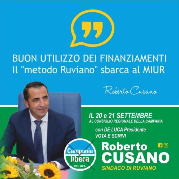 %name ROBERTO CUSANO (CAMPANIA LIBERA): IMPEGNO CONCRETO PER RINNOVARE LE NOSTRE TERRE