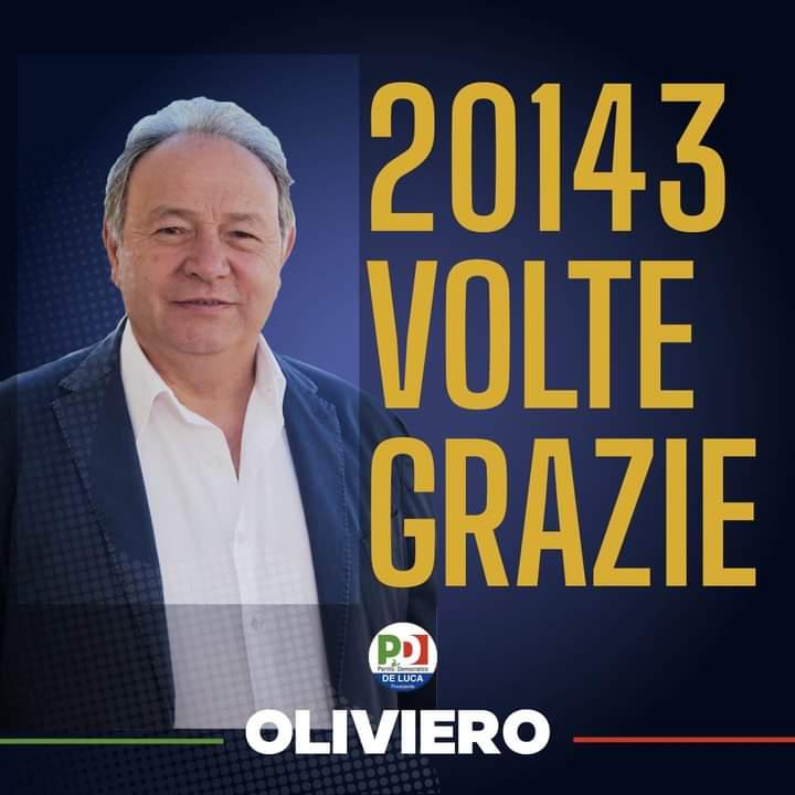 %name OLTRE 20MILA VOTI: OLIVIERO RINGRAZIA I SUOI SOSTENITORI