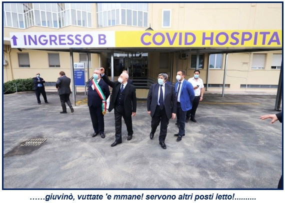 covid hospital ASL, ORA URGE VIGILANZA ARMATA PER OSPEDALE COVID MADDALONI!