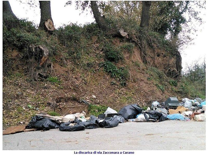 discarica via Zacconara scaled SESSA AURUNCA: IN FIAMME UNA DISCARICA IN PIENO CENTRO STORICO