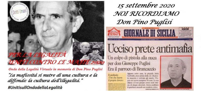 locandina Don Pino Puglisi 2020 scaled DON PINO PUGLISI, A 27 ANNI DALLOMICIDIO UNINIZIATIVA NAZIONALE E IL RICORDO DEL CNDDU