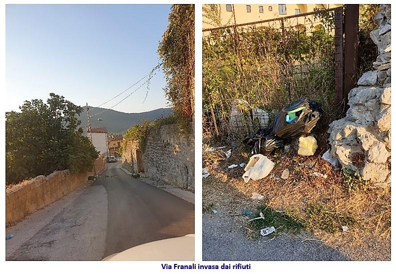 via Franali invasa dai rifiuti SESSA AURUNCA: IN FIAMME UNA DISCARICA IN PIENO CENTRO STORICO