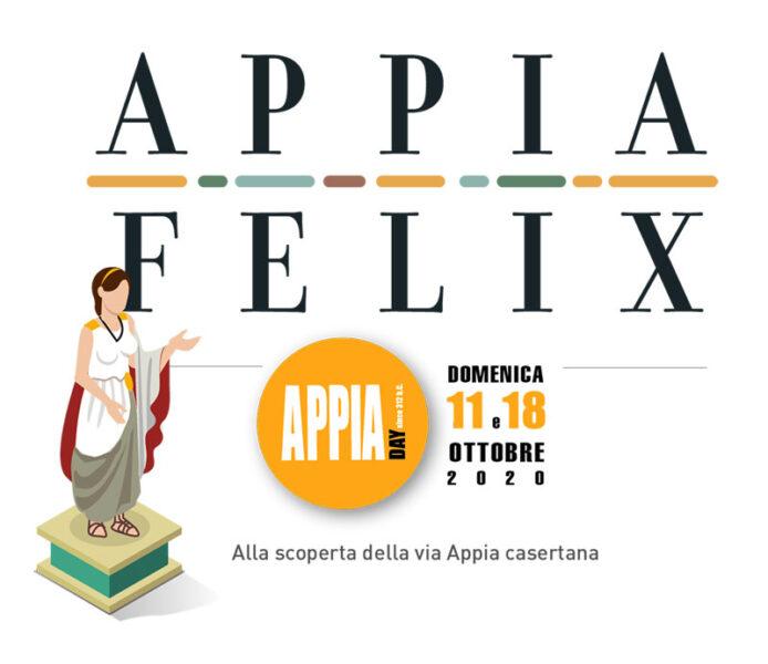 Appia day 2020 in provincia di Caserta Logo Appia Felix Mediateur PER APPIA DAY 2020, APPIA FELIX PROPONE 22 APPUNTAMENTI IN 9 COMUNI