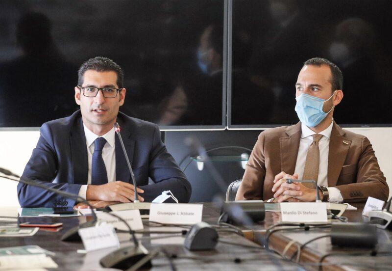 LAbbate e Di Stefano scaled L'AGROALIMENTARE ALLA SFIDA DELL'EXPORT PER IL RILANCIO DELLE IMPRESE