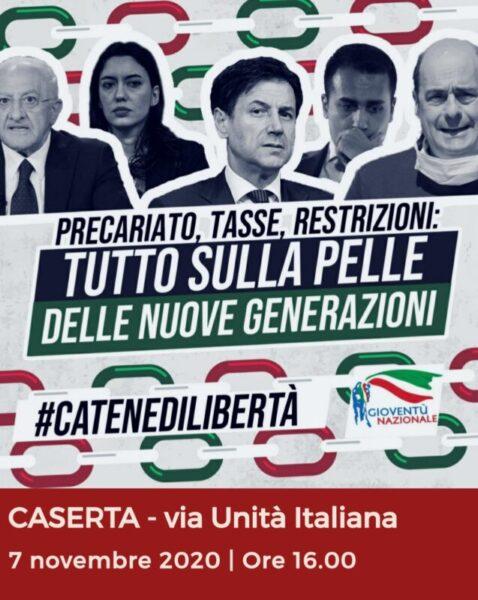 %name GIOVENTÙ NAZIONALE CONTRO IL GOVERNO: AL VIA #CATENEDILIBERTÀ
