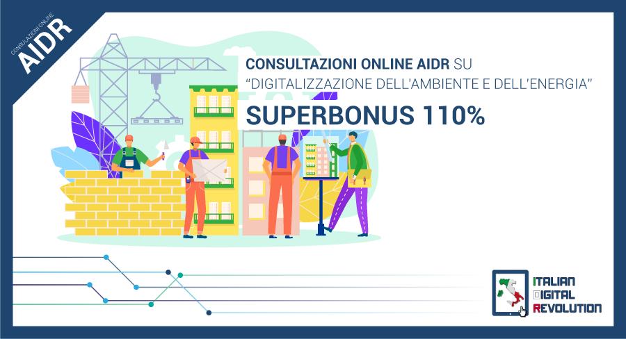 Indagine Aidr Superbonus DIGITAL TRASFORMATION: AL VIA LE CONSULTAZIONI ONLINE DI AIDR