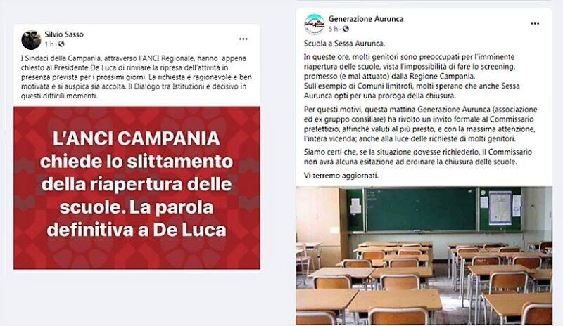 POST 1 scaled CORONAVIRUS A SESSA: I CONSIGLI D'ISTITUTO CONTRO L'ORDINANZA DI DE LUCA
