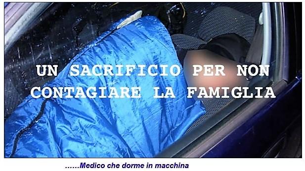 """covid medico dorme in auto SILERI: """"SIAMO IN GUERRA""""   ASL: """"ARMIAMOCI E PARTITE"""""""