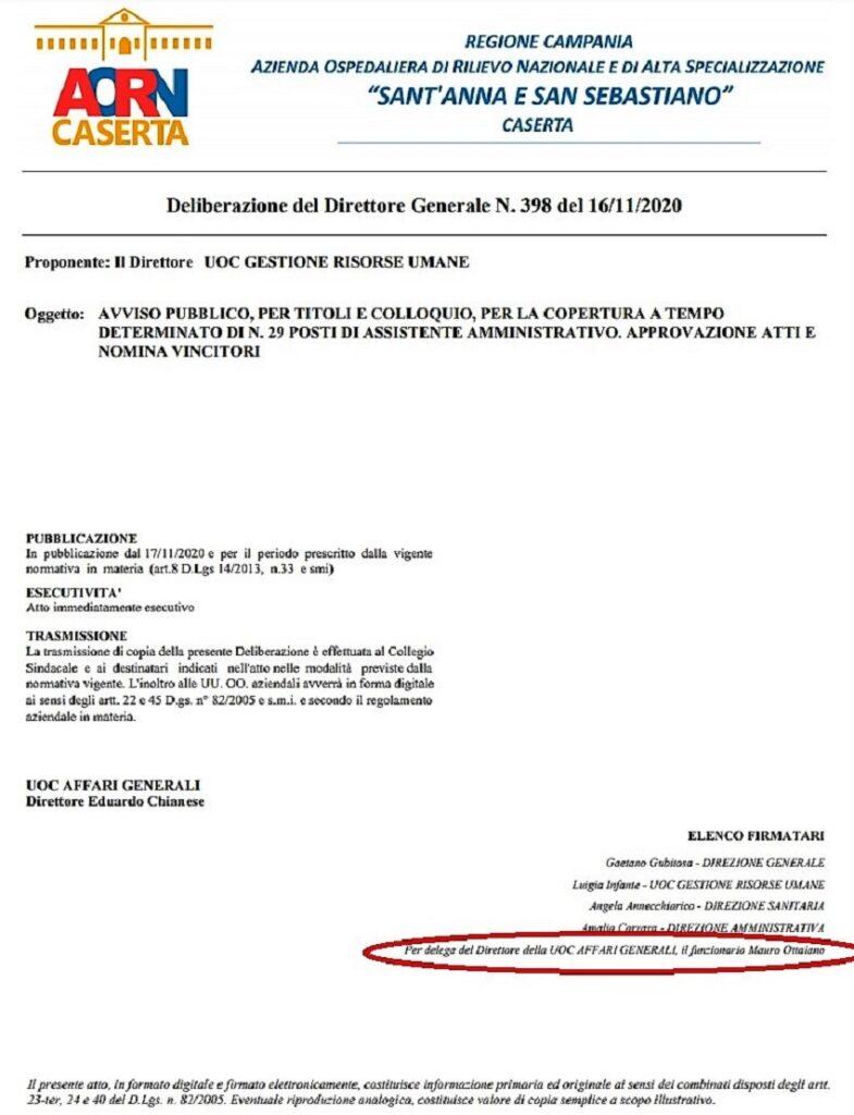 doc AORN ottaiano 1 785x1024 OSPEDALE, DELIBERA 398… SI FIRMA PER IGNORANZA O SPUDORATEZZA?