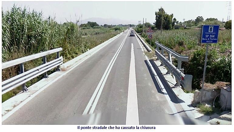 ponte baia domizia BAIA DOMIZIA…CI RISIAMO, CHIUSA LA STRADA DI INGRESSO AL CENTRO DELLA LOCALITÀ
