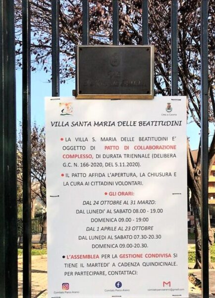 %name CASERTA, PARCO DEGLI ARANCI: PARTE IL GAZEBO SOLIDALE