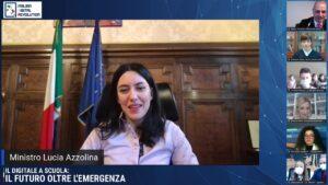 Live Azzolina 1 300x169 MINISTRO AZZOLINA ALLEVENTO AIDR: FUTURO SCUOLA LEGATO A DIGITALIZZAZIONE