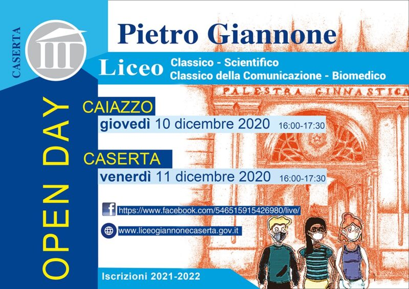 %name LICEO GIANNONE, OPEN DAY IN DIRETTA FACEBOOK