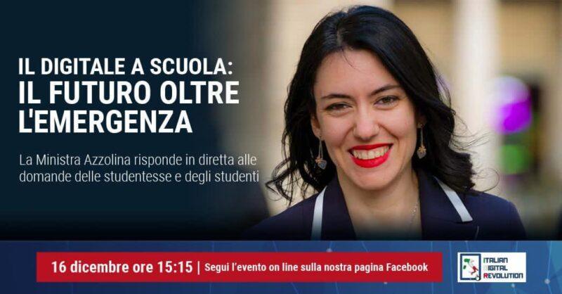 %name SCUOLA, OGGI LINCONTRO ON LINE DEGLI STUDENTI CON IL MINISTRO AZZOLINA