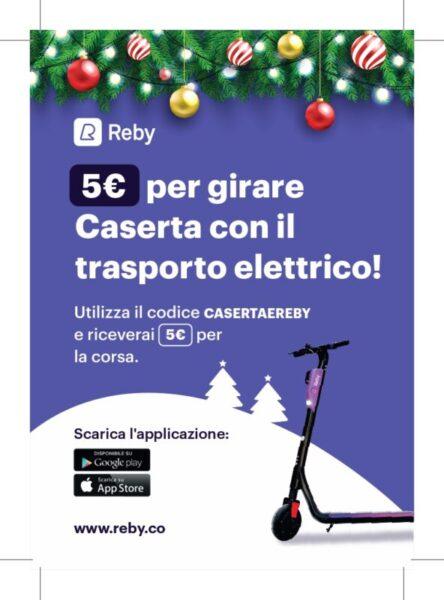 Postal reby Caserta2 3 page 0001 scaled CASERTA, PARTE IL SERVIZIO DI MOBILITA CONDIVISA REBY: 120 MONOPATTINI ELETTRICI IN CITTA
