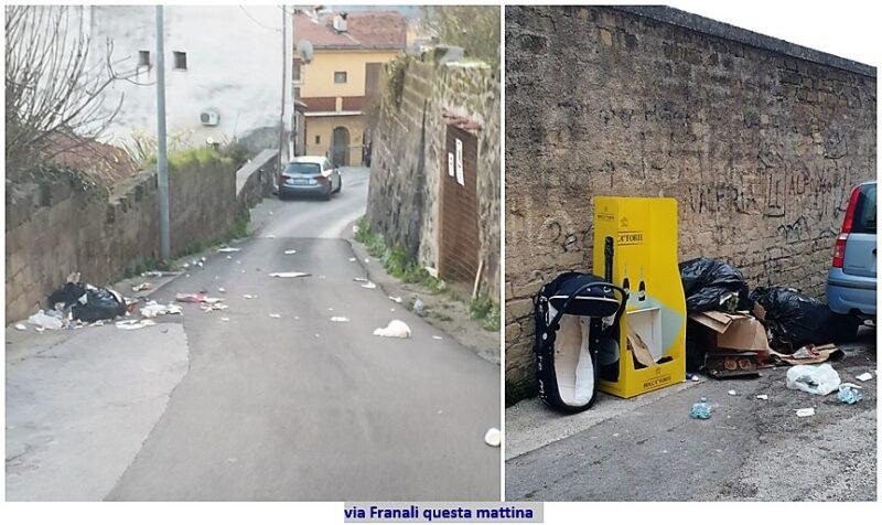 Via Franali2  scaled BENVENUTI A SESSA AURUNCA… CI SCRIVONO CITTADINI ESASPERATI PER L'ABBANDONO DELLA LORO STRADA!