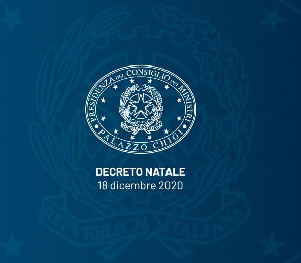 decreto DECRETO PER LE FESTIVITA NATALIZIE: TUTTE LE LIMITAZIONI