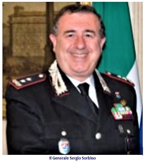 generale Sergio Sorbino SESSA AURUNCA: IL COMMISSARIO CANTADORI NOMINA GENERALE DEI CARABINIERI COMPONENTE DI STAFF