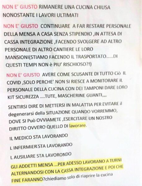 %name OSPEDALE, LALTALENA DEI DIRITTI AL TEMPO DEL COVID
