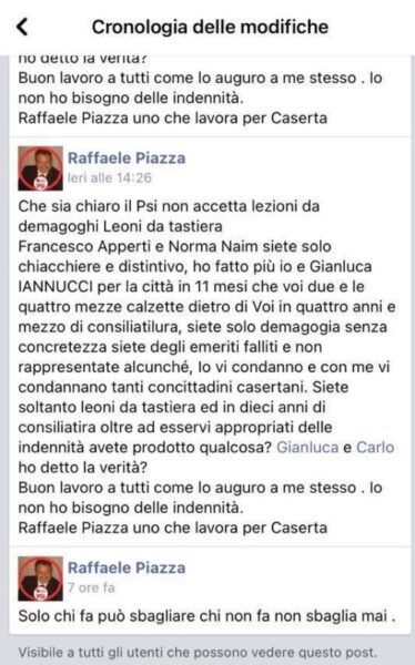 """postmodificato 1 scaled PIAZZA ATTACCA APPERTI E NAIM (E POI RITRATTA), DI COSTANZO: """"IANNUCCI COSTA AI CASERTANI PIÙ DI LORO"""""""