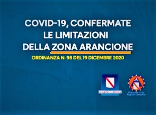 %name LA CAMPANIA ANCORA IN ARANCIONE FINO ALLA VIGILIA DI NATALE QUANDO DIVENTERA ZONA ROSSA