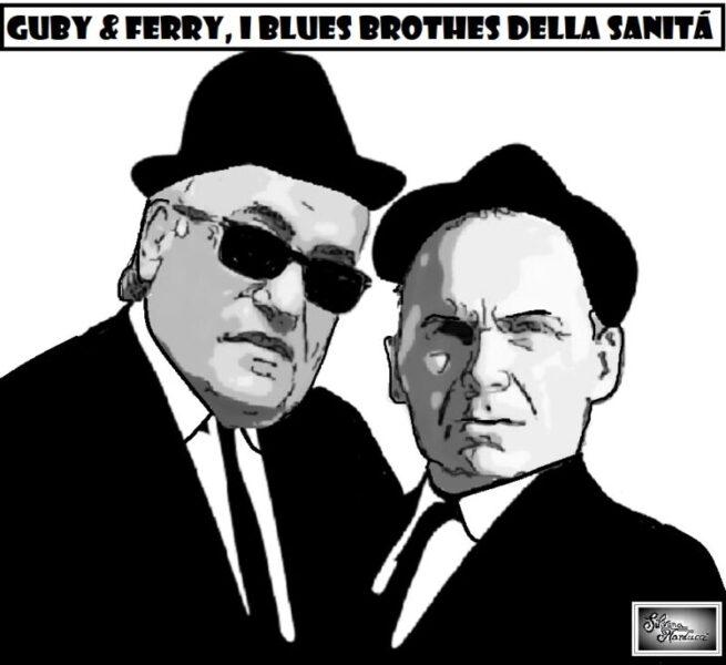 GUBY e FERRY blues brothers scaled OSPEDALE, GUBITOSA DIRETTORE PER PROCURA DI FERRANTE