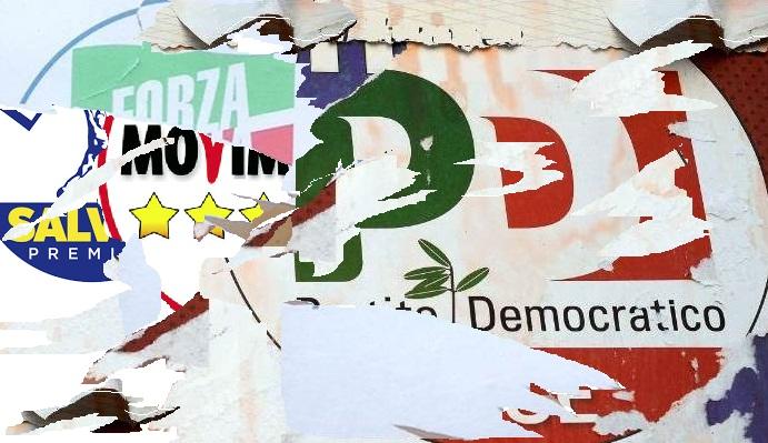 politica manifesto strappato Fi DESTRA E SINISTRA: IL GRANDE IMBROGLIO