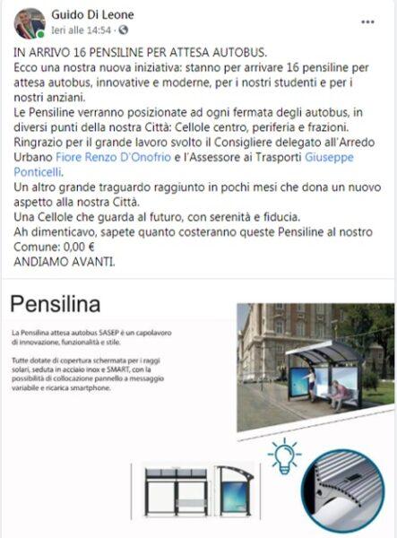 post IL SINDACO DI LEONE ANNUNCIA L'INSTALLAZIONE DI PENSILINE PER I BUS…A COSTO ZERO