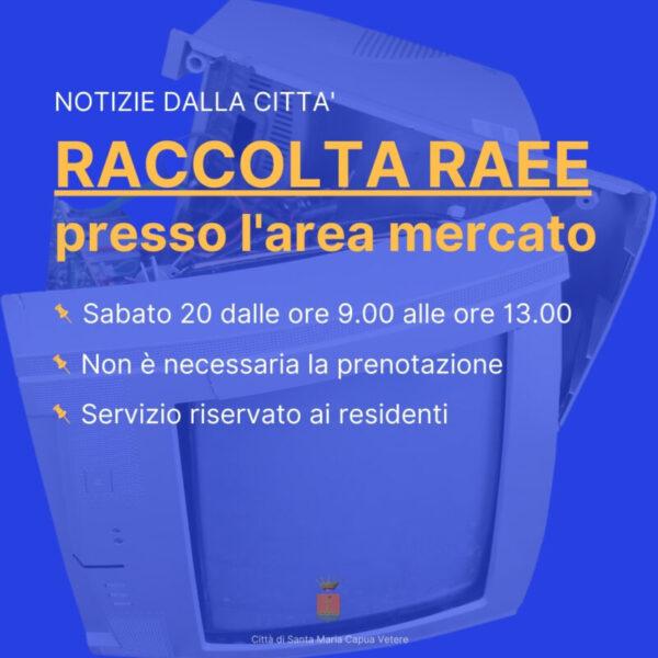 19.02 Raccolta Raee scaled SANTA MARIA C.V., RACCOLTA RAEE: SABATO 20 FEBBRAIO DALLE 9.00 ALLE 13.00 PRESSO L'AREA MERCATO