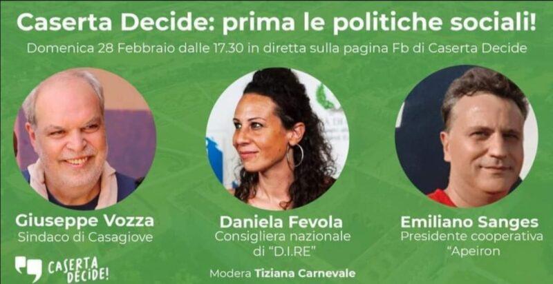 Locandina Webinar scaled PRIMA LE POLITICHE SOCIALI!: WEBINAR DI CASERTA DECIDE IL 28 FEBBRAIO