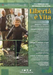 Settimana per la vita 2021 Locandina definitiva 212x300 PARTE LA SETTIMANA PER LA VITA NELLA DIOCESI DI AVERSA
