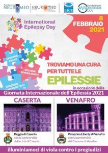 locandina epilessia 212x300 GIORNATA INTERNAZIONALE DELLEPILESSIA, A CASERTA E VENAFRO LUCI VIOLA NEI MONUMENTI STORICI