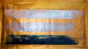 Corrado Veneziano ISBN Dante Lamor che move il sole 2019 olio su tela 300x169 ISBN DANTE E LE ALTRE VISIONI, AL SENATO SI PRESENTA LA MOSTRA DI CORRADO VENEZIANO