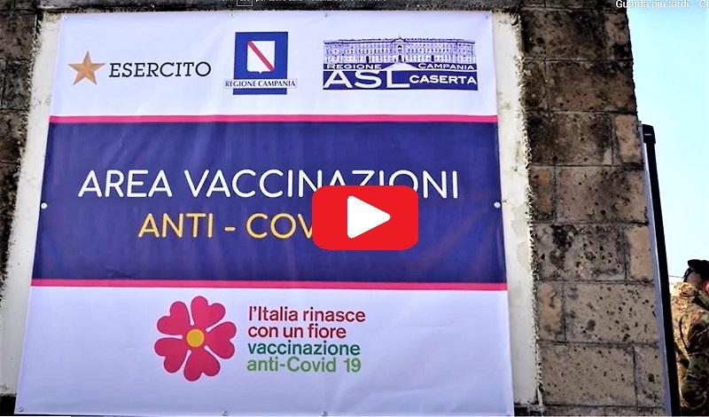 centro vaccinale 1 CASERTA, INAUGURATO IL CENTRO VACCINALE ALLA CASERMA GARIBALDI