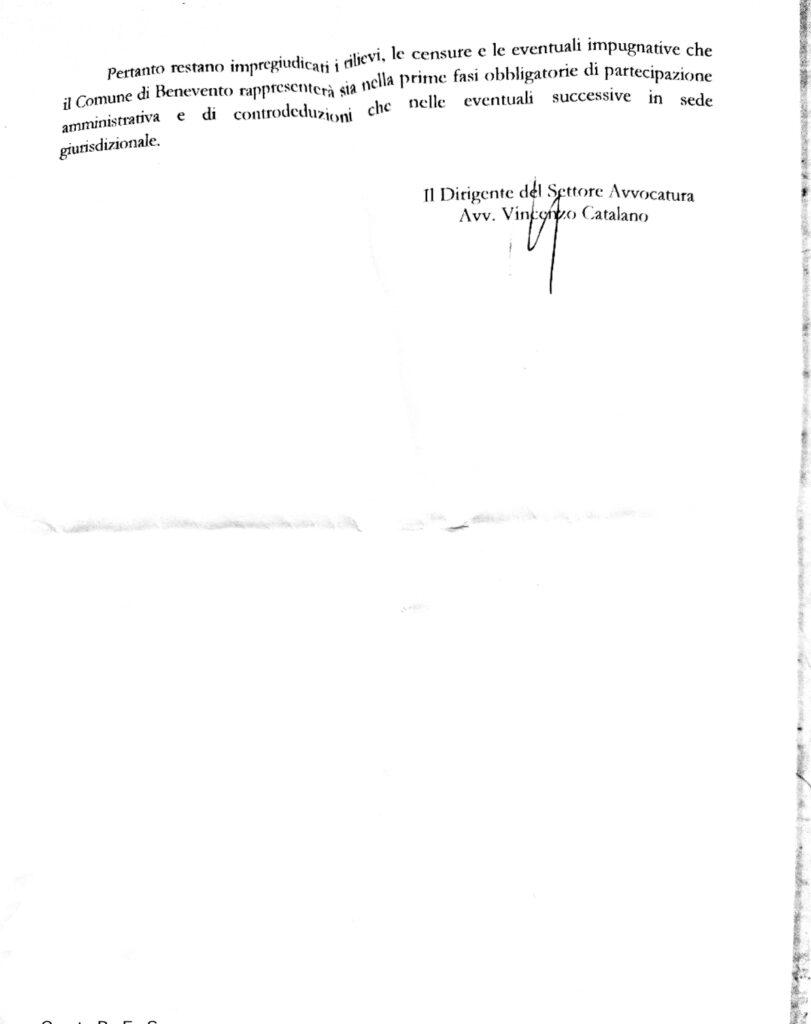Doc Apr 25 20212 2 811x1024 CONTENZIOSO LUMINOSA, ECCO LA RELAZIONE E MASTELLA: RIBADISCO IL MIO NO