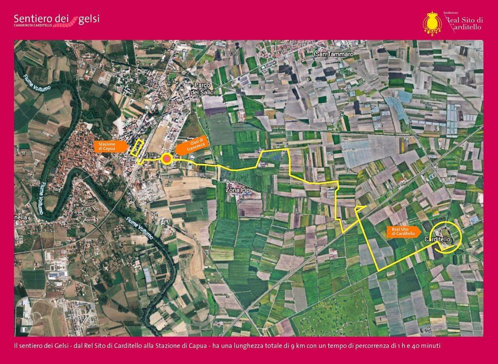 Mappa 1024x748 CAMMINI DI CARDITELLO, DA TERRA DEI FUOCHI AD ITINERARIO ECOTURISTICO