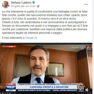 """post Caldoro 300x300 STEFANO CALDORO CONTRO IL VOTO DI SCAMBIO…CHISSA' SE """"RI CONOSCE"""" I SUOI UOMINI SESSANI"""