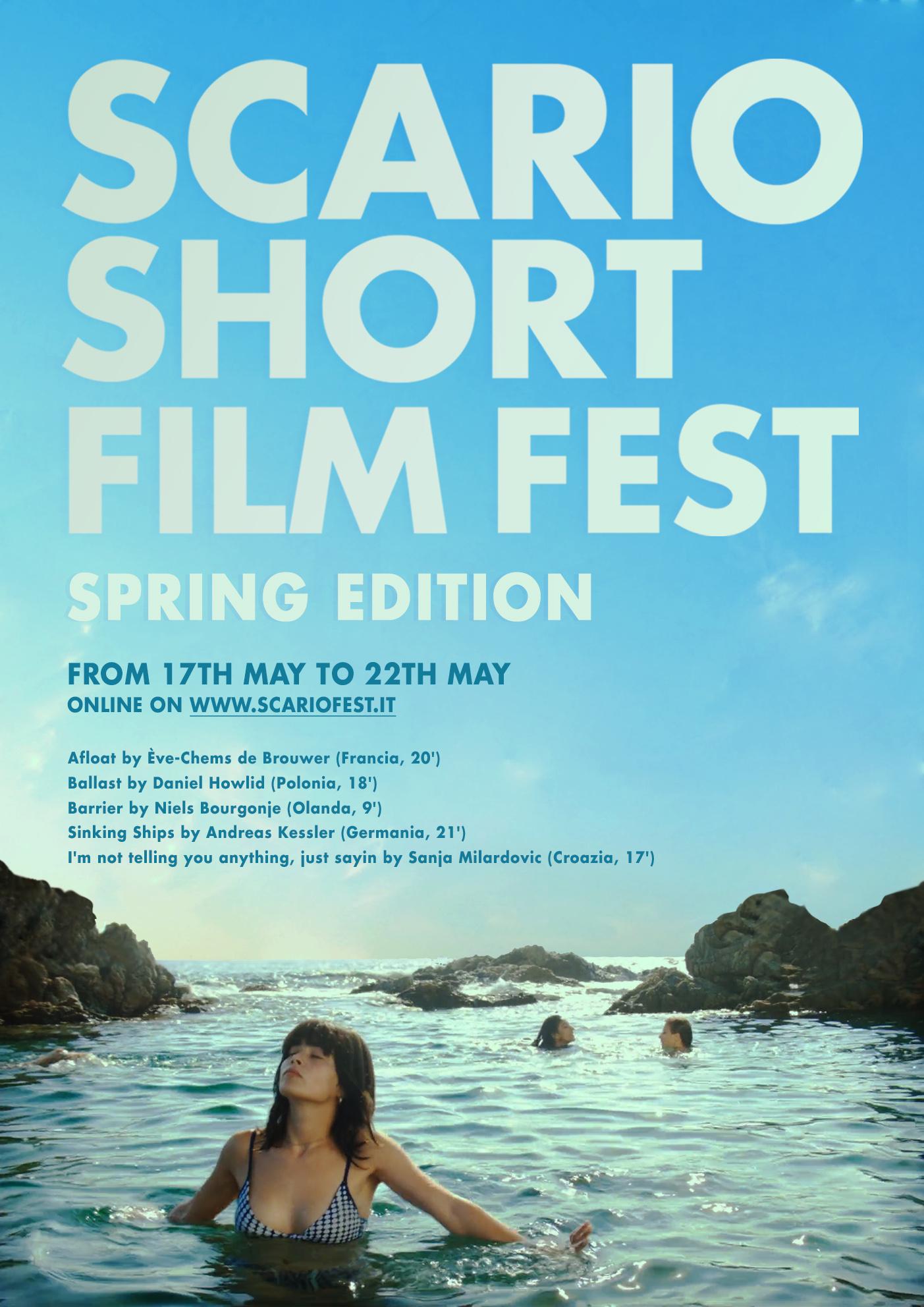 LOCANDINA spring SCARIO FILM FEST, AL VIA LEDIZIONE PRIMAVERILE