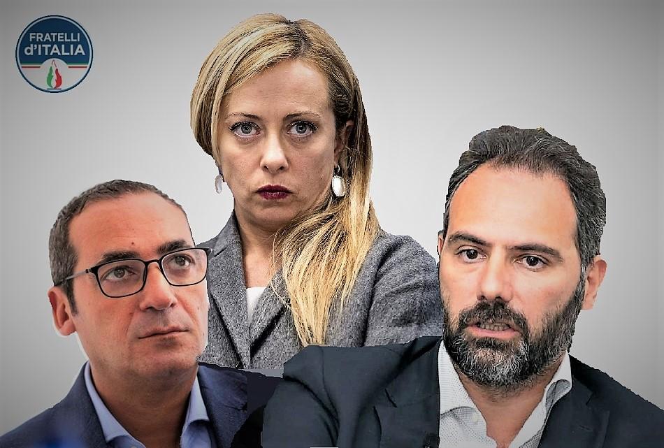 """Maresca Cerreto Meloniscaled POLITICA & SUSSIEGO. FDI A NAPOLI INNEGGIA A MARESCA E CERRETO FA IL """"PRECISINO""""…"""