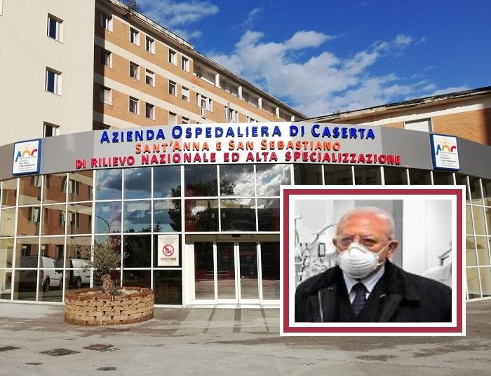 ospedale caserta de luca IL GOVERNATORE DE LUCA ALLOSPEDALE DI CASERTA